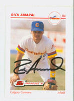 Rich Amaral AUTOGRAPH 1991 Impel Calgary Cannons 