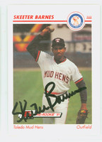 Skeeter Barnes AUTOGRAPH 1991 Impel Toledo Mud Hens 