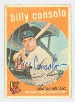Billy Consolo AUTOGRAPH d.08 1959 Topps #112 Red Sox CARD IS F/G; CREASE, AUTO CLEAN  [SKU:ConsB411_T59BBV]