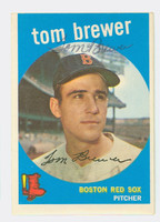 Tom Brewer AUTOGRAPH d.18 1959 Topps #55 Red Sox CARD IS VG/EX, OC T/B