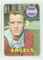 Sammy Ellis AUTOGRAPH d.16 1969 Topps #32 Angels CARD IS G/VG; SL BEND