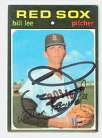 Bill Lee AUTOGRAPH 1971 Topps #58 Red Sox CARD IS CLEAN EX