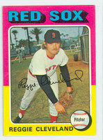Reggie Cleveland AUTOGRAPH 1975 Topps #32 Red Sox CARD IS CLEAN EX/MT  [SKU:ClevR606_T75BBV]