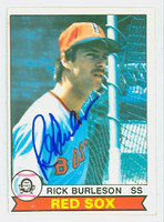 Rick Burleson AUTOGRAPH 1979 Topps #125 Red Sox CARD IS CLEAN EX/MT