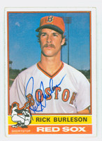 Rick Burleson AUTOGRAPH 1976 Topps #29 Red Sox CARD IS CLEAN VG/EX