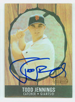 Todd Jennings AUTOGRAPH 2003  Bowman Heritage 1958 Hires Root Beer Design Giants 