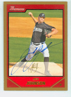 Josh Johnson AUTOGRAPH 2007 Bowman Marlins 