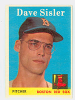 1958 Topps Baseball 59 Dave Sisler Boston Red Sox Excellent to Mint