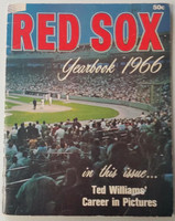 1966 Red Sox Yearbook (50 pg) Very Good Scuffing and creasing on cover, stamps and tape on reverse