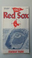 1962 Red Sox Program vs Indians (24 pg) Scored Jun 10 Conley vs Latman (Cle 9-3, HR Yastrzemski, Francona, Romano) Excellent [Very neatly scored in pencil, lt wear ow very clean]
