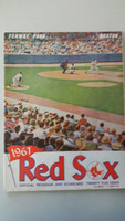 1967 Red Sox Program vs Angels (24 pg) Scored Aug 20 Stange vs Brunet (Bos 12-2, HR Petrocelli, Smith) Very Good [Neatly scored, heavy scuffing and lt wear on all pages]