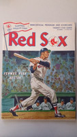 1968 Red Sox Program vs Indians (32 pg) Unscored Series Played Apr 19-21 Excellent [Lt toning on cover, ow very clean]