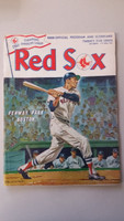 1968 Red Sox Program vs Athletics (32 pg) Unscored Series Played May 3-5 Very Good [First inning scored, lt wear and fraying on cover]
