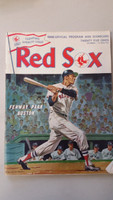 1968 Red Sox Program vs Angels (32 pg) Scored Aug 4 Bell vs Brunet (Cal 12-6, HR Reichardt) Very Good to Excellent [Non detailed scoring, lt wear and staining]
