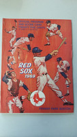 1969 Red Sox Program vs Indians (32 pg) Scored Apr 20 Brett vs Hargan (Bos 9-4, HR Moses) Very Good [Non detailed scoring, sm tear on cover, ow clean]