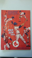 1969 Red Sox Program vs Tigers (32 pg) Scored May 4 Nagy vs Dobson (Bos 4-2 11 INN, Rico Petrocelli Walk-Off HR off McMahon) Very Good [Non detailed scoring, stray WRT, ow clean]