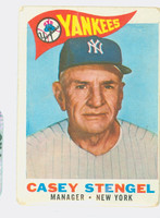 1960 Topps Baseball 227 Casey Stengel New York Yankees Fair to Poor