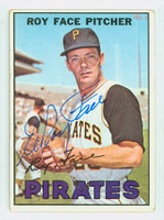 Roy Face AUTOGRAPH 1967 Topps #49 Pirates CARD IS G/VG; SL CREASE