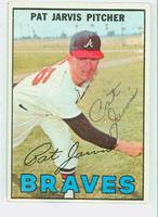 Pat Jarvis AUTOGRAPH 1967 Topps #57 Braves CARD IS CLEAN G/VG  [SKU:JarvP1232_T67BBmX]