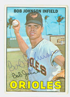 Bob Johnson AUTOGRAPH 1967 Topps #38 Orioles CARD IS G/VG; CRN WEAR