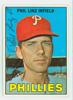 Phil Linz AUTOGRAPH 1967 Topps #14 Phillies CARD IS CLEAN VG