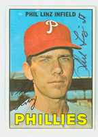 Phil Linz AUTOGRAPH 1967 Topps #14 Phillies CARD IS CLEAN VG/EX
