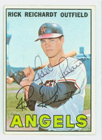 Rick Reichardt AUTOGRAPH 1967 Topps #40 Angels CARD IS CLEAN VG