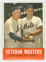 1963 Topps Baseball 43 Veteran Masters New York Mets Good to Very Good