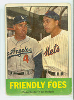 1963 Topps Baseball 68 Friendly Foes Fair to Poor