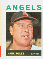 1964 Topps Baseball 554 Hank Foiles High Number California Angels Excellent