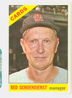 1966 Topps Baseball 76 Red Schoendienst St. Louis Cardinals Good to Very Good