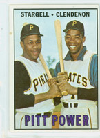 1967 Topps Baseball 266 Pitt Power Pittsburgh Pirates Very Good