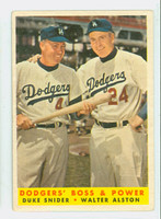 1958 Topps Baseball 314 Dodgers Boss and Power Very Good