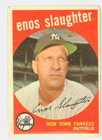 1959 Topps Baseball 155 Enos Slaughter New York Yankees Fair to Good