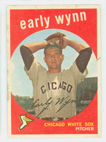 1959 Topps Baseball 260 Early Wynn Chicago White Sox Fair to Good