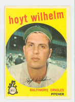 1959 Topps Baseball 349 Hoyt Wilhelm Baltimore Orioles Very Good