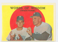1959 Topps Baseball 383 Words Of Wisdom New York Yankees Very Good