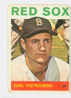 1964 Topps Baseball 210 Carl Yastrzemski Boston Red Sox Fair to Poor