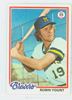 1978 Topps Baseball 173 Robin Yount Milwaukee Brewers Very Good