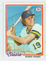 1978 Topps Baseball 173 Robin Yount Milwaukee Brewers Excellent