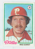 1978 Topps Baseball 360 Mike Schmidt Philadelphia Phillies Excellent