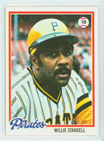1978 Topps Baseball 510 Willie Stargell Pittsburgh Pirates Excellent