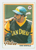 1978 Topps Baseball 530 Dave Winfield San Diego Padres Very Good