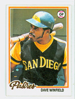 1978 Topps Baseball 530 Dave Winfield San Diego Padres Very Good to Excellent