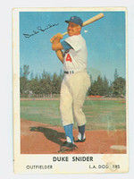 1960 Bell Brand Dodgers 2 Duke Snider Los Angeles Dodgers Fair to Good