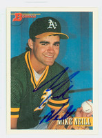 Mike Neill AUTOGRAPH 1993 Bowman Athletics 
