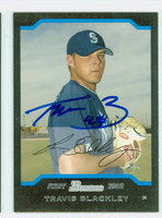 Travis Blackley AUTOGRAPH 2004 Bowman Mariners 