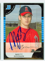 Matthew Brown AUTOGRAPH 2005 Bowman Angels 