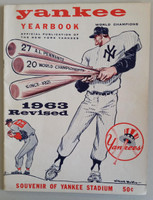 1963 Yankees Yearbook Revised - AL Pennant Winning Team (50 pgs) Excellent Lt wear along binding, sl wear on both covers, ow very clean