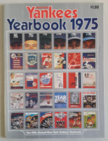 1975 Yankees Yearbook Near-Mint Lt wear on cover, ow very clean